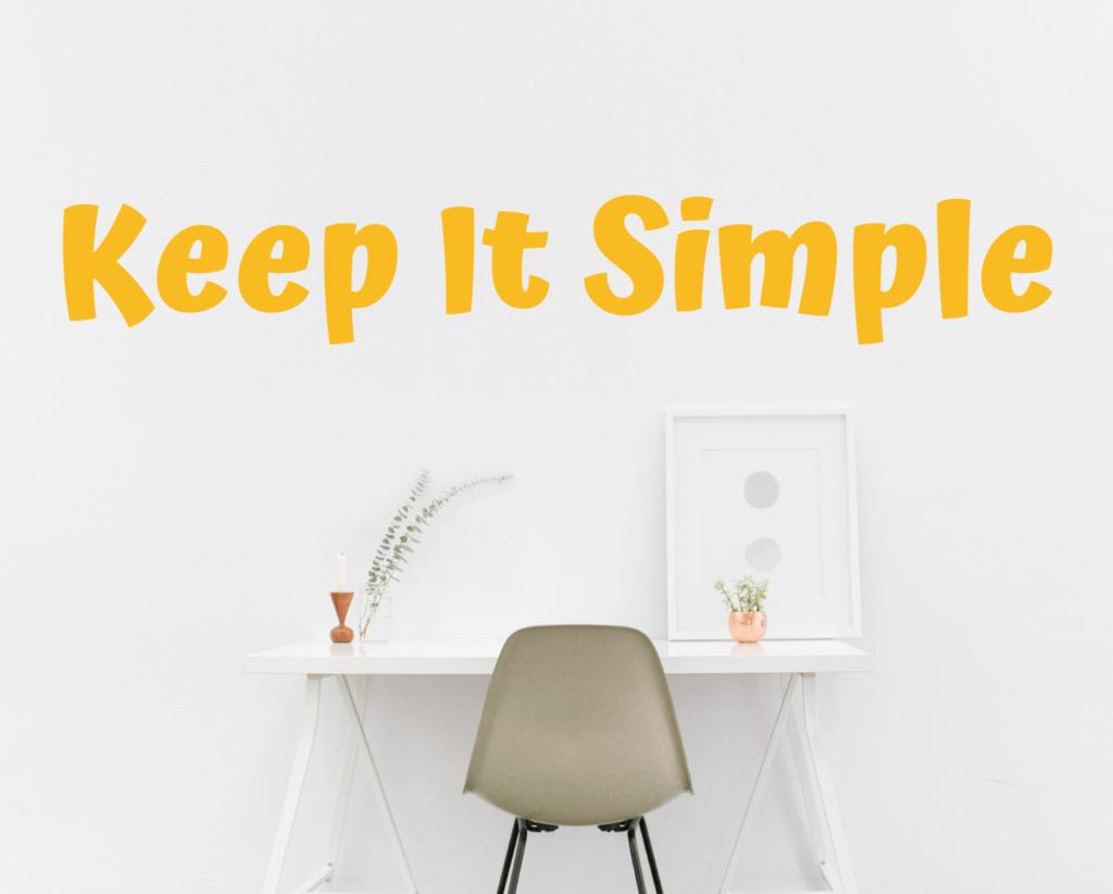 simple desk design